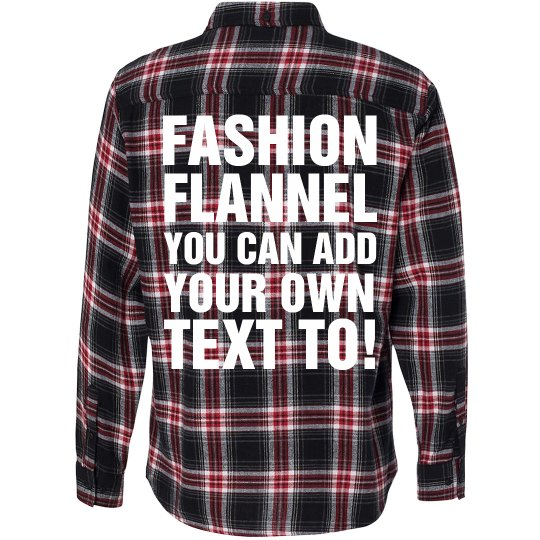 design your own flannel unisex long sleeve plaid flannel shirt