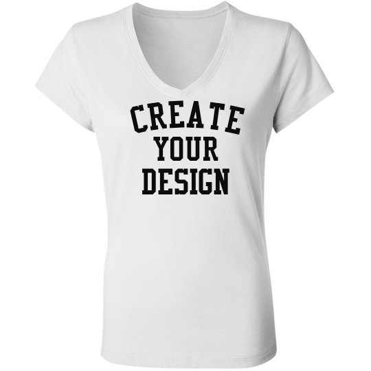 Design Your Own V-Neck Tee