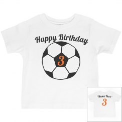 Soccer theme 3rd birthday