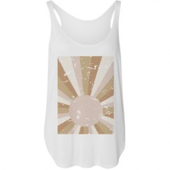 Ladies Flowy Tank with Side Slit