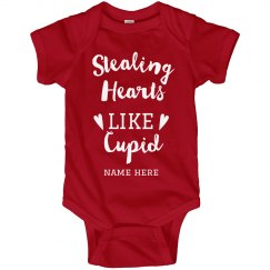 Stealing Hearts Like Cupid Custom Onesie