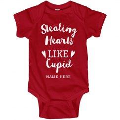 Stealing Hearts Like Cupid Custom Onesie