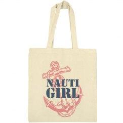 Nauti Girl Navy Tote