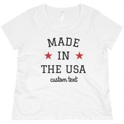 Made in the USA Custom Plus Size Tee