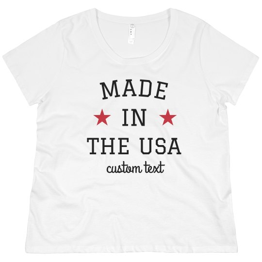 71a4e8a077b Made in the USA Custom Plus Size Tee Promo Ladies Curvy Plus Size Scoopneck  T-Shirt