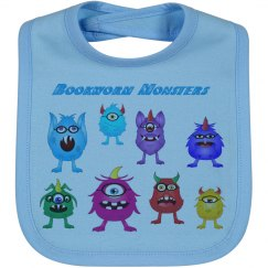 Bookworm Monsters Bib