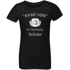I'm the family scholar