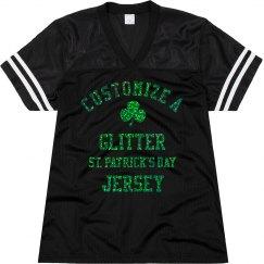 Green Glitter St. Patricks Day