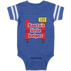 baby Santa's Little helper christmas onsie
