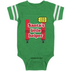 baby Santa's Little helper christmas onsie