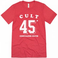 Cult 45: Contains Nuts Funny Impeachment Tee