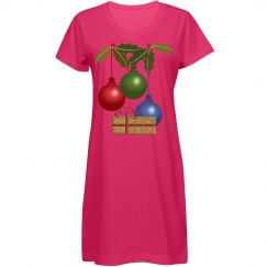 Colorful Ball Ornaments Gold Present