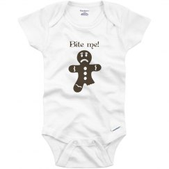 Bite me infant onzie