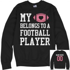 Player's Football Girlfriend With Custom Name Number