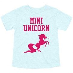 Mini unicorn toddler tee