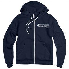 Unisex Fleece Full Zip Midweight Hoodie NAVY