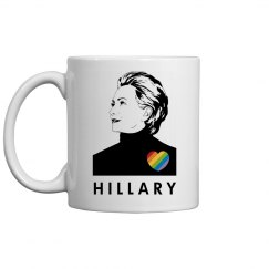 Pro-LGBT Hillary Clinton Mug