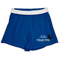Gymnastics shorts--youth blue