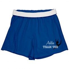 Gymnastics shorts--youth blue