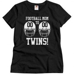 A Football Mom to Football Twins Shirt
