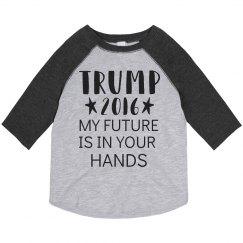 Donald Trump Toddler Tee Shirt