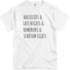 Ballfields & Homeruns Trendy Tee