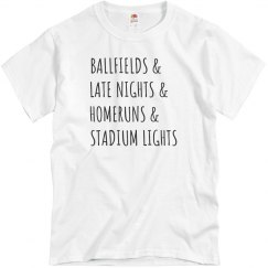 Ballfields & Homeruns Trendy Tee