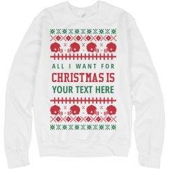 Custom Football Christmas