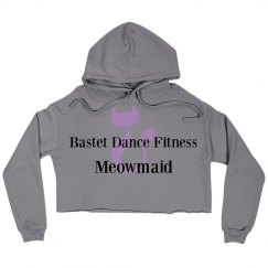 Bastet Dance Fitness Meowmaid Crop Hoodie