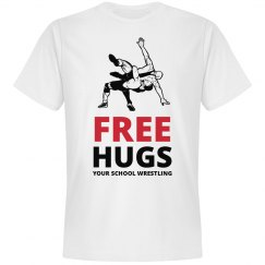 Made-To-Order Your School Free Hugs T-Shirt