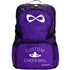 Custom Cheerleader Glitter Bag