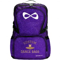 Custom Dance Bag Metallic Lettering