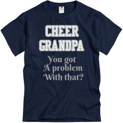 Navy Cheer Grandpa Tee