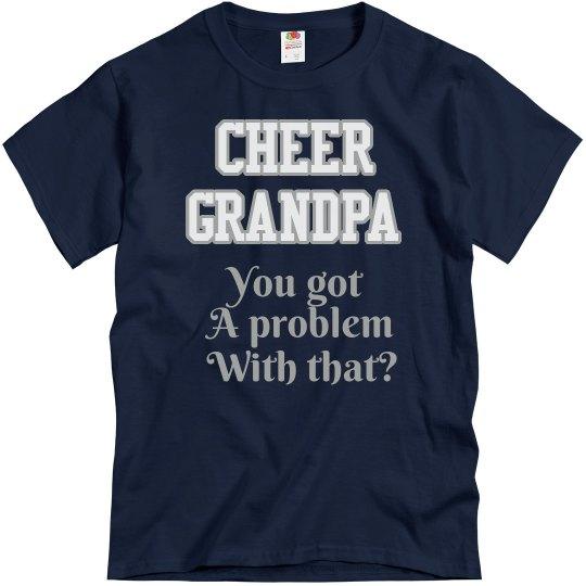 8e9f32dec93f52 Navy Cheer Grandpa Tee Unisex Basic T-Shirt  Cheerfully Custom Apparel