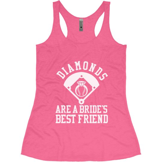 Diamonds Are A Bride's Best Friend Bachelorette Tank