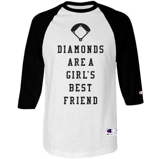 Diamonds Are A Girls Best Friend Cute Custom Jerseys