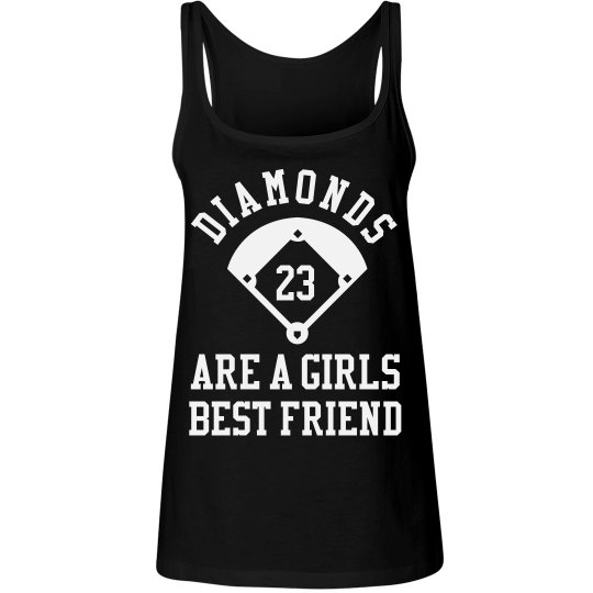 Diamonds Are Girls Best Friend Custom Baseball Jersey