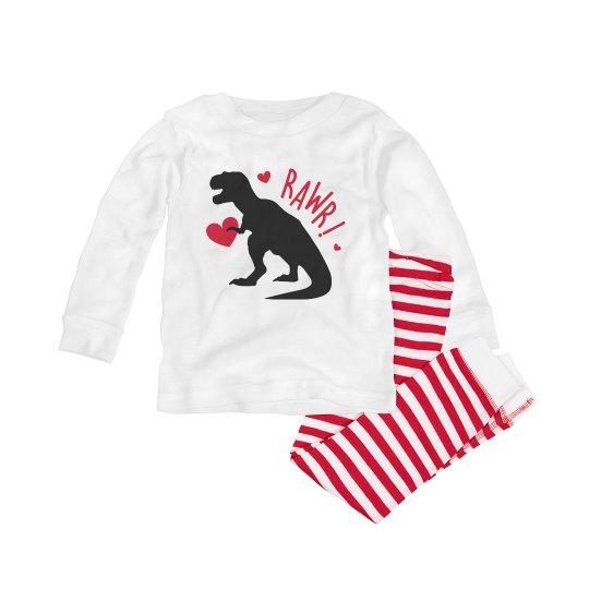 Dinosaur Christmas pajamas for babies