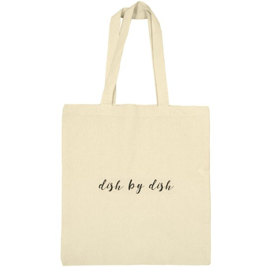 Dish by Dish cotton canvas bag