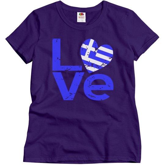 Distressed Greek LOVE