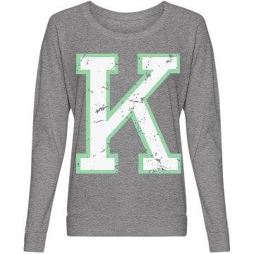 Distressed Letter K