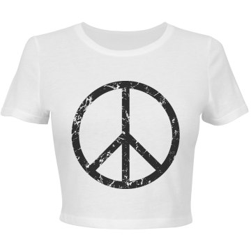 Distressed Peace Sign