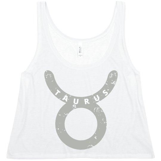 Distressed Taurus Zodiac