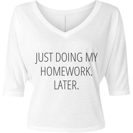 Doing My Homework Later V-Neck