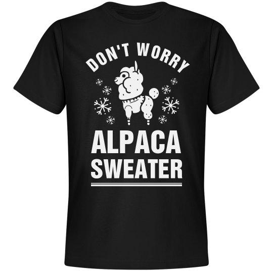 Don't Worry Alpaca Sweater Llama