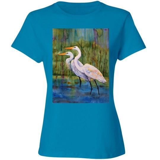 Double egrets front back Ladies