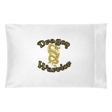 Dragon warrior blue pillow