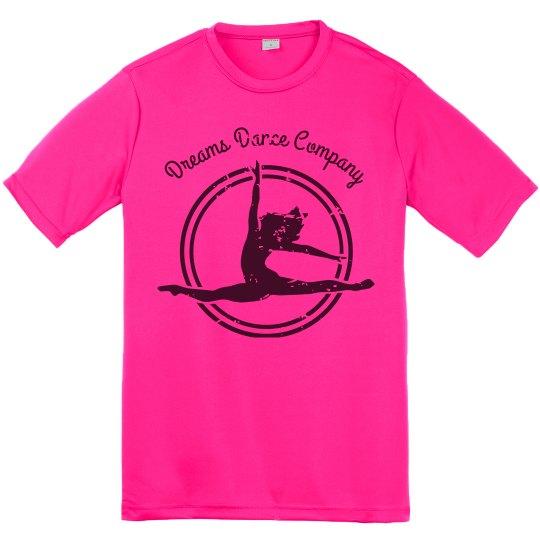 Dreams Dance Company Hot Pink Tee