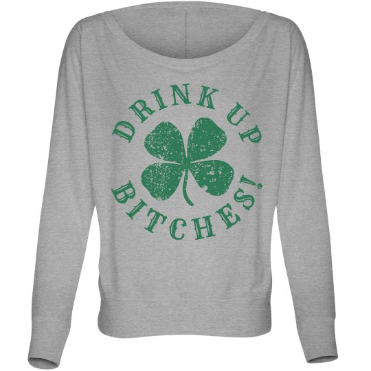 Drink Up Long Sleeve St Pattys