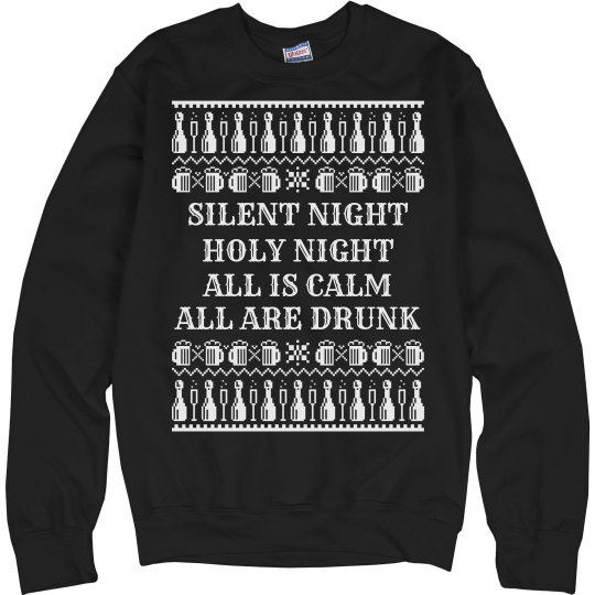 Drunk Silent Night ugly Sweater